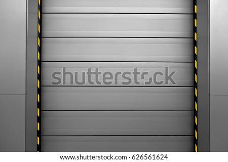 Closed Roller Shutter Garage Door.