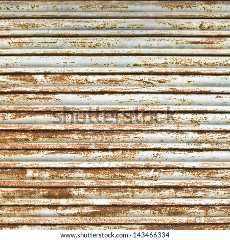 Closed security shutters. Background texture. - stock photo