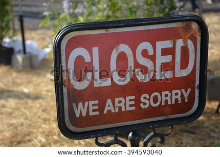 closed Signs  - stock photo
