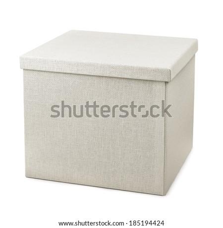 Closed storage box isolated on white - stock photo