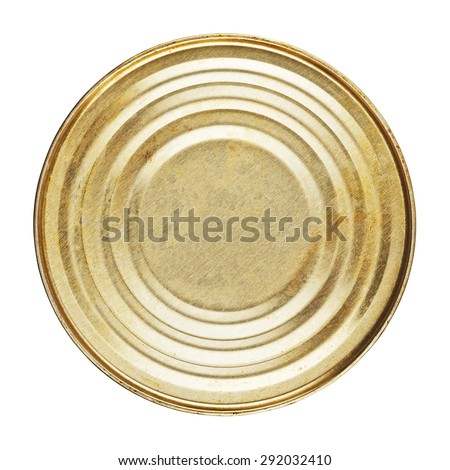 closed tincan with food, isolated on white background - stock photo