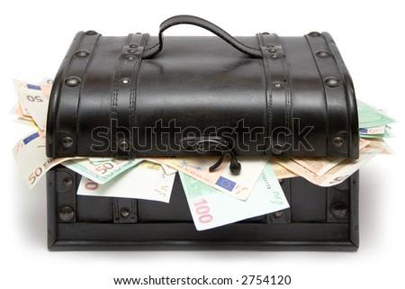 Closed Treasure Chest - stock photo