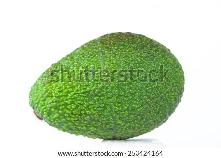Closed up Avocado fruit on white - stock photo