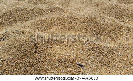 Closed up sand on the beach background