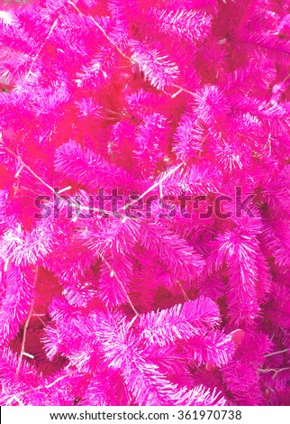 Closed up Texture of Pink Christmas Tree, Abstract - stock photo