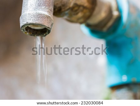 Closed water faucet not tight
