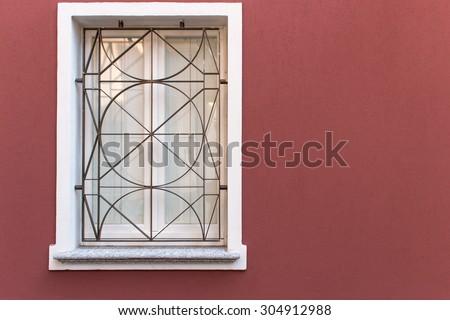 Closed window  - stock photo