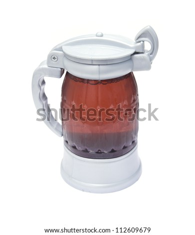 closed with a beer mug on a white background