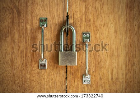Closed wood lock door security