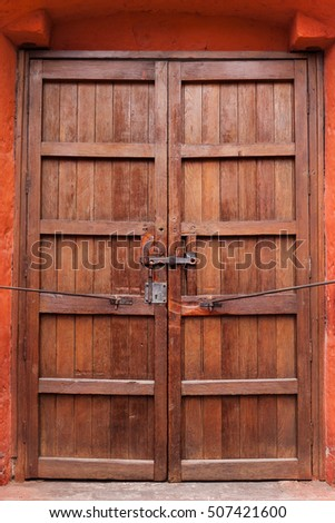 closed wooden and old gate