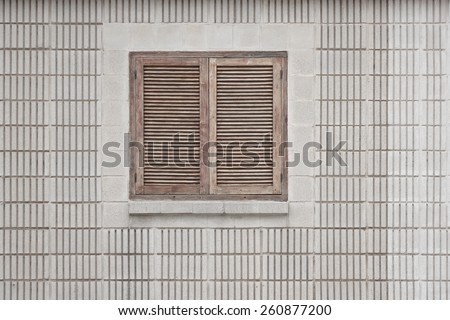 closed wooden window - stock photo