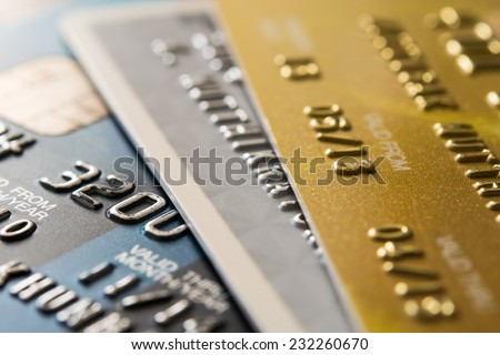 Closer Up Credit card for Background - stock photo