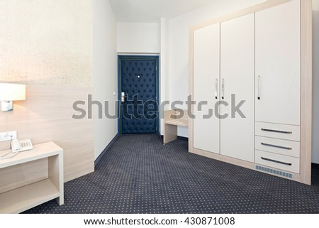 Closet in hotel room - stock photo
