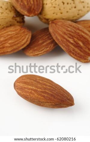 closeup almond on background - stock photo