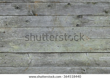 Closeup background texture photo of rustic weathered barn wood with visible shades of green - stock photo