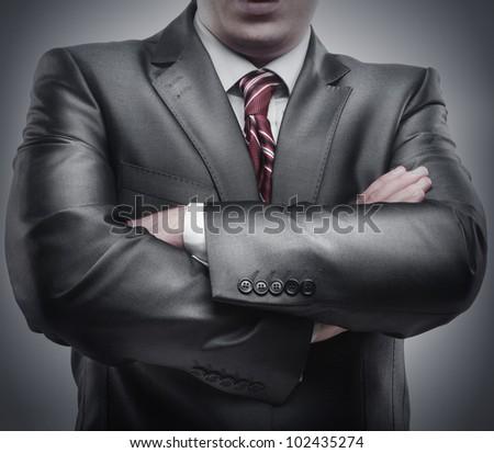 closeup businessman suit high resolution - stock photo