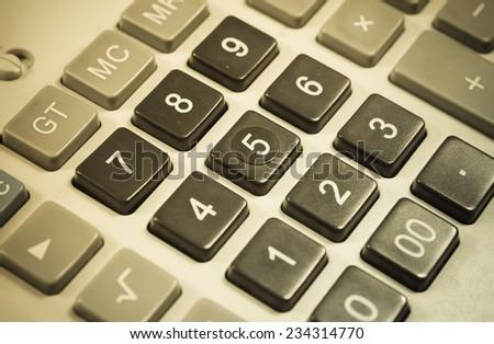 Closeup Calculator - stock photo