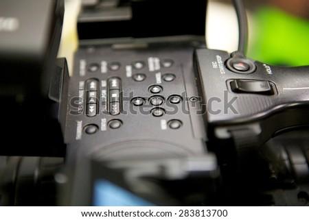 Closeup Camcorder. - stock photo