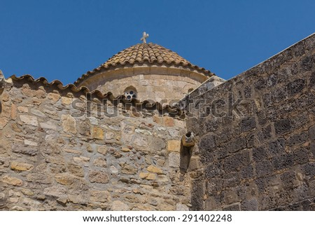 closeup christian church - stock photo