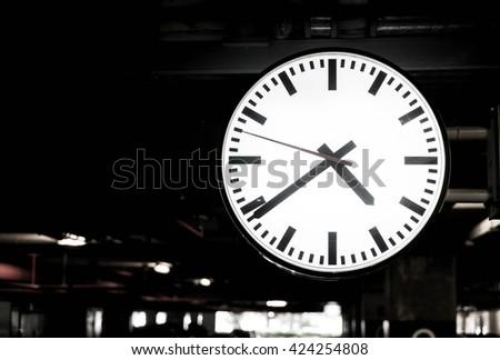 Closeup Clock - stock photo