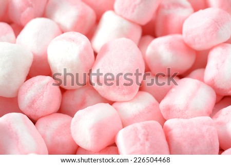 closeup colorful marshmallows candy for background uses  - stock photo