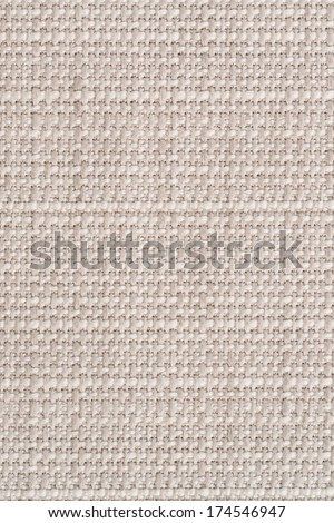 Closeup detail of beige canvas texture background.
