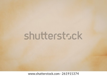 Closeup detail of old brown paper texture. - stock photo