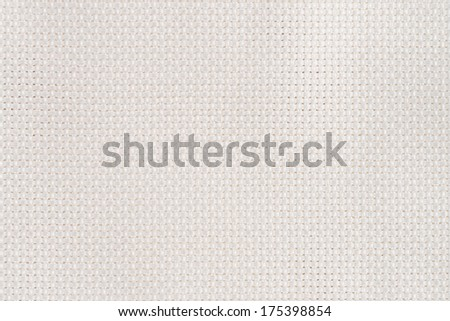 Closeup detail of white fabric texture background. - stock photo