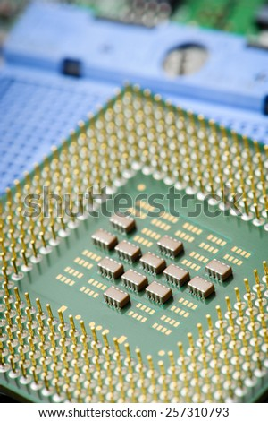 closeup details of Central Processing Unit (CPU)