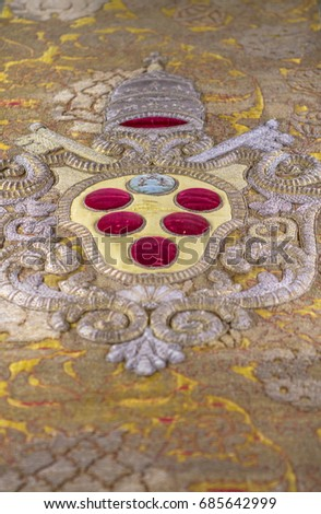 Closeup Details Medici Family Coat Arms Stock Photo Edit Now