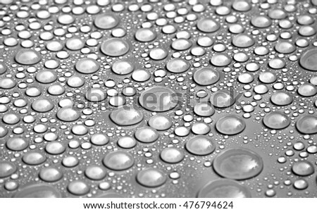 closeup drops water background - black and white
