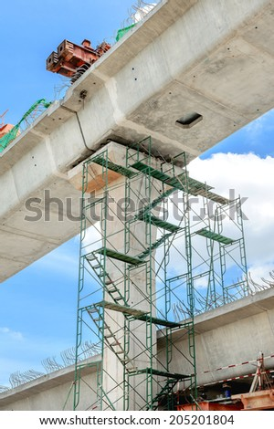 closeup fragment of the road under construction - stock photo