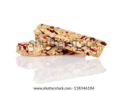 closeup fruit granola bars - stock photo