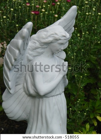 Closeup Garden Angel - stock photo