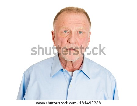 Closeup head shot portrait of handsome, confident, serious business man, guy, agent, isolated on white background. Positive human emotions, feelings, emotions, expressions, attitude, perception - stock photo