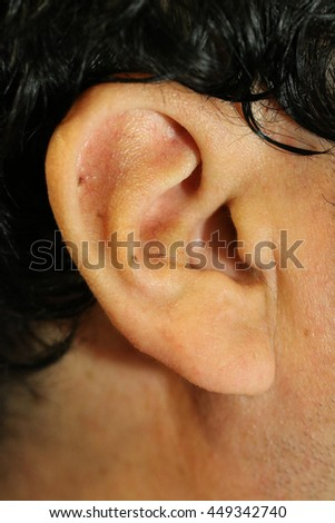 Closeup Human's Ear