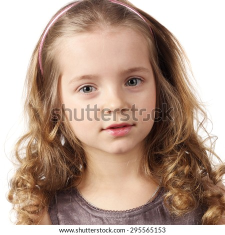 closeup image of a beautiful little girl