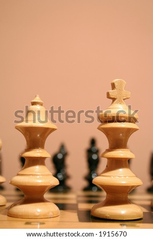 closeup image of a chess pieces - stock photo