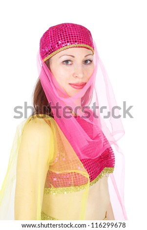 closeup image of the pretty young girl - stock photo