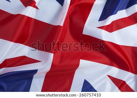Closeup image of UK, British flag, Union Jack - stock photo