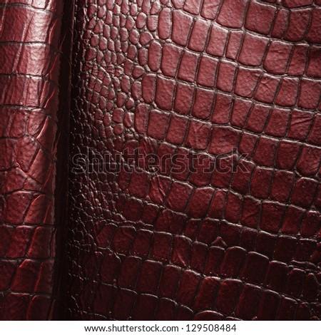 Closeup leather background - stock photo