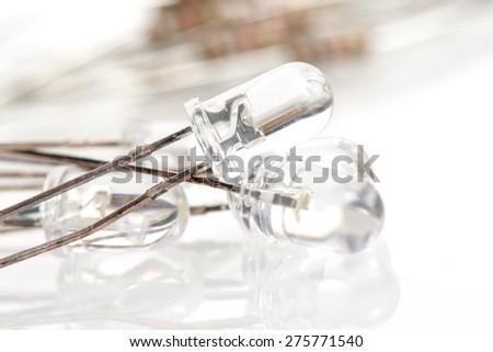 closeup LED (Light Emitting Diode), Electronic parts - stock photo