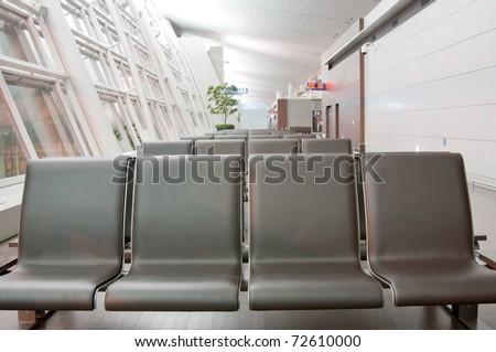 Closeup lounge in an Korea airport - stock photo
