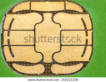 closeup Nano SIM card - stock photo