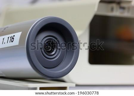 Closeup network camera - stock photo