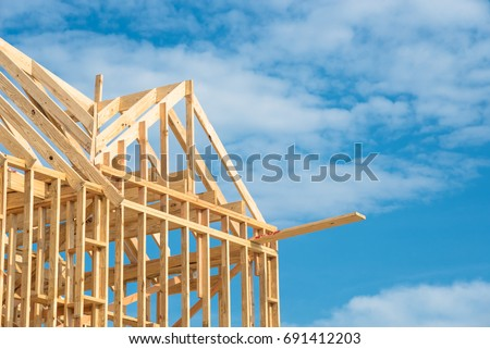 Closeup New Stick Built Home Under Stock Photo & Image (Royalty-Free ...