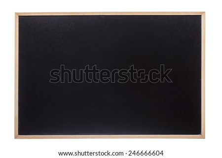 Closeup of a blackboard isolated over white background - stock photo