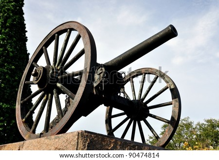 Closeup Of A Civil War Cannon