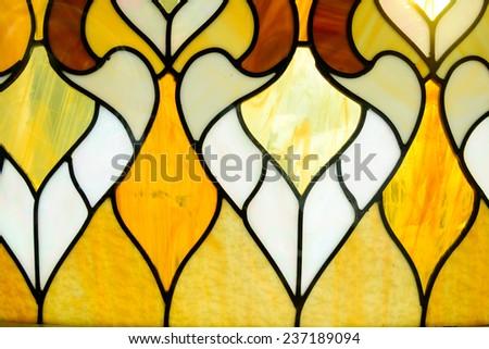 Closeup of a colored glass - stock photo