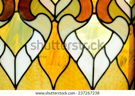 Closeup of a colorful glass wall background - stock photo